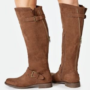 JustFab Shoes - Just Fab Bayley Wide Calf Boots